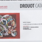 Cotation artistique DROUOT christophe napias