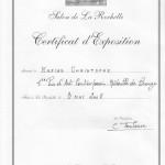 Certificat 1er prix la rochelle christophe napias